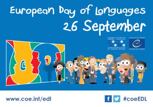 Grafika promująca konkurs - European Day of Languages 26 sierpnia